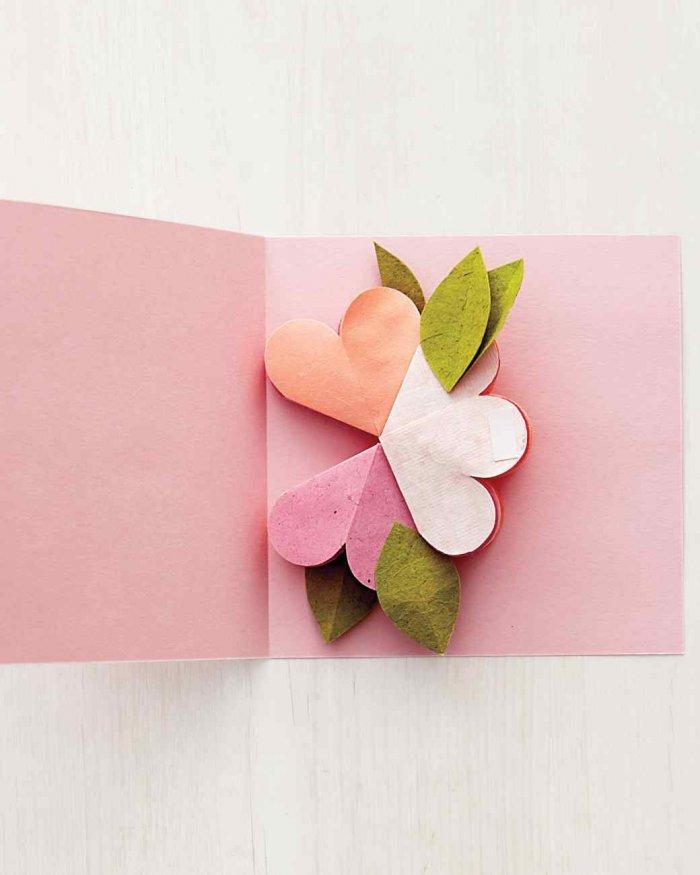 Букет из бумаги на открытку