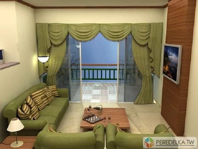 """Дизайн прямоугольной гостинной в квартире """" картинки и фотог."""