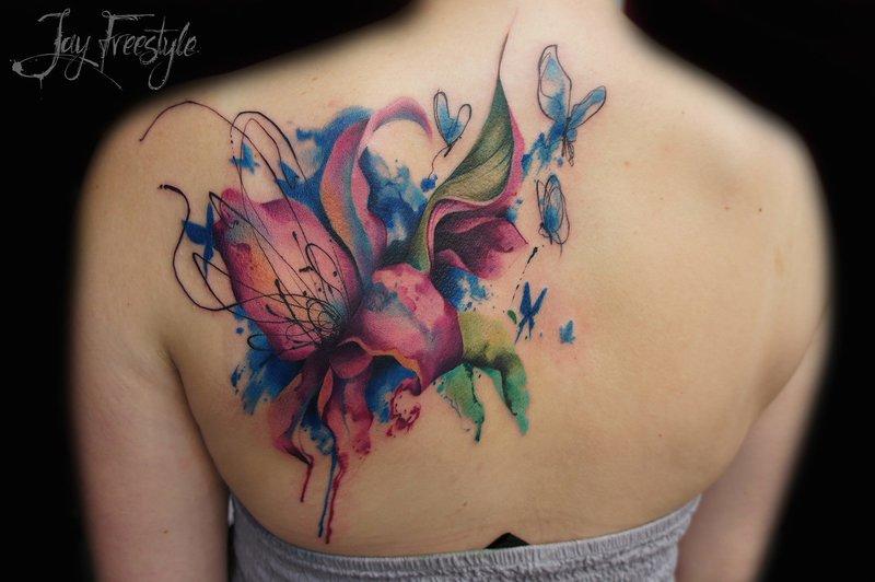 Лилия и бабочки