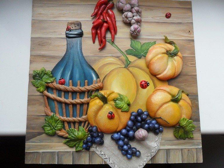 Овощи из соленого теста в картинках