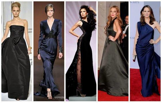 cf2c065d1a70c92 Атласные платья: как выбирать, как носить платья из атласа ...