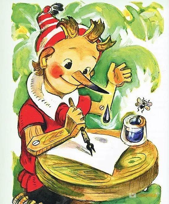 ассортимент картинки из книги золотой ключик или приключения буратино карандаш