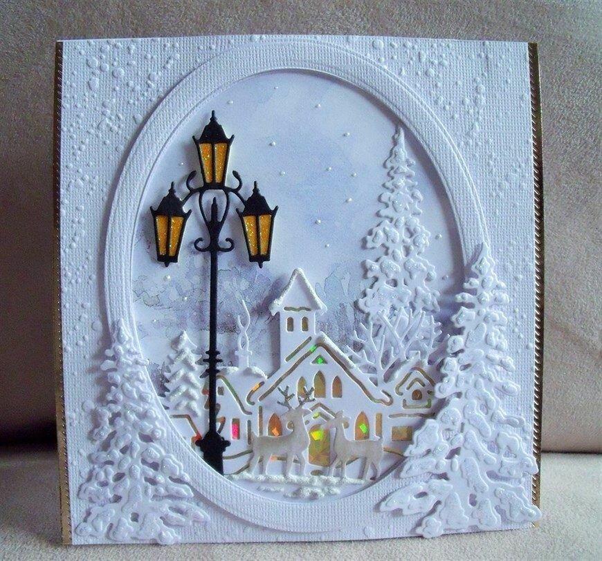 Рождественская открытка своими руками на конкурс в школу