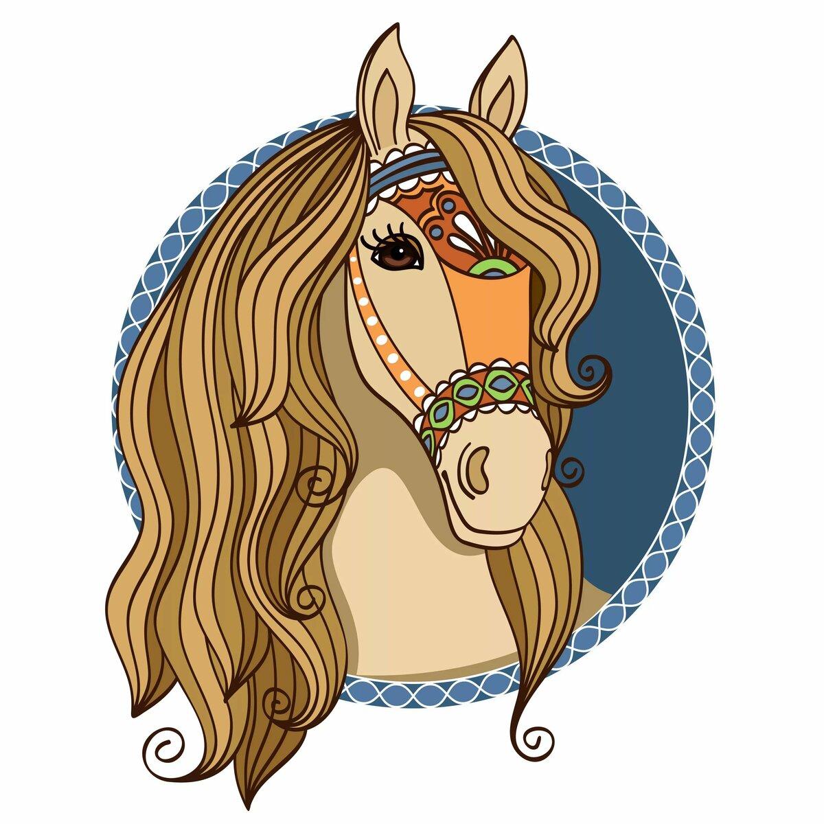 Картинка лошадь для детей маска