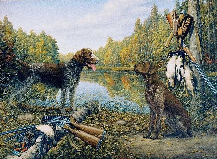 Картинки на тему охоты рыбалки