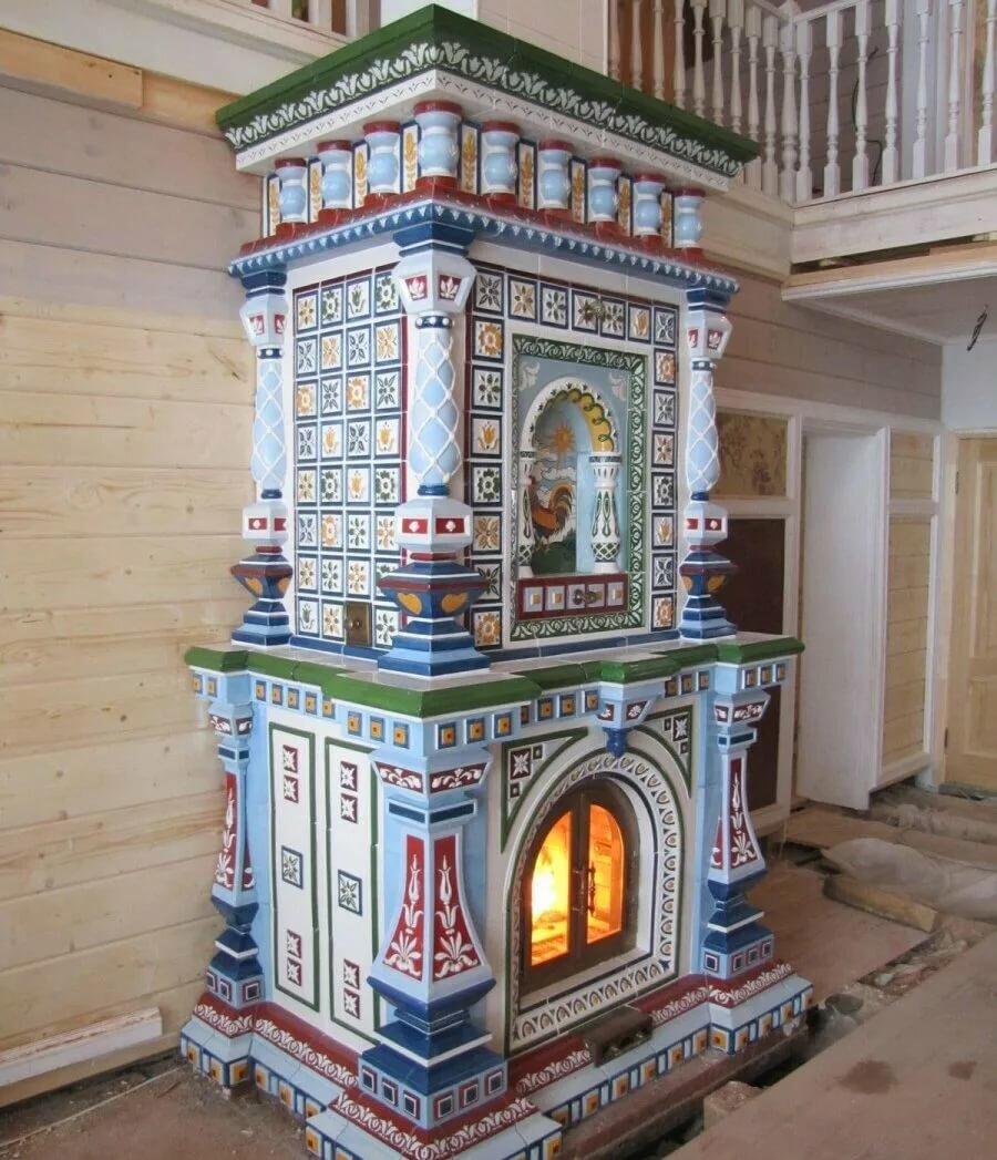 потолочную русская печь с изразцами картинки создания особого праздничного