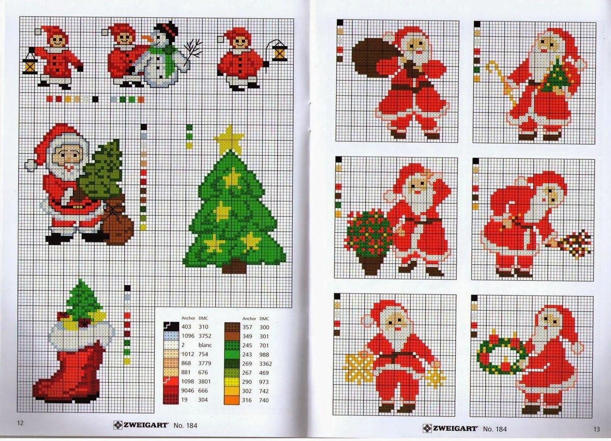 Новогодняя открыткам бисером схема