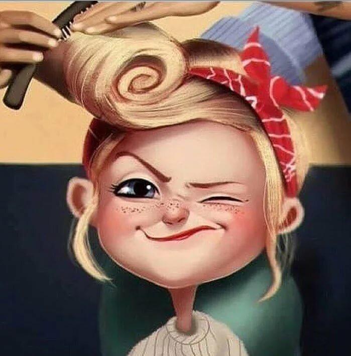 Веселый парикмахер картинки