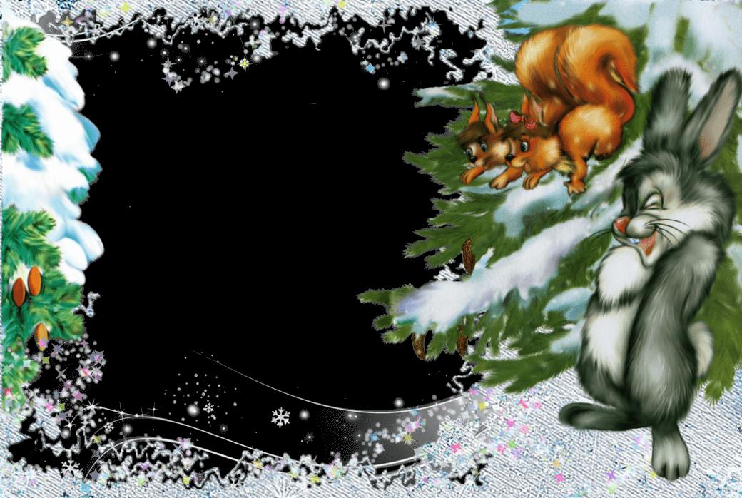 совершенно шаблоны к новому году зимний сказочный лес настроение своего питомца
