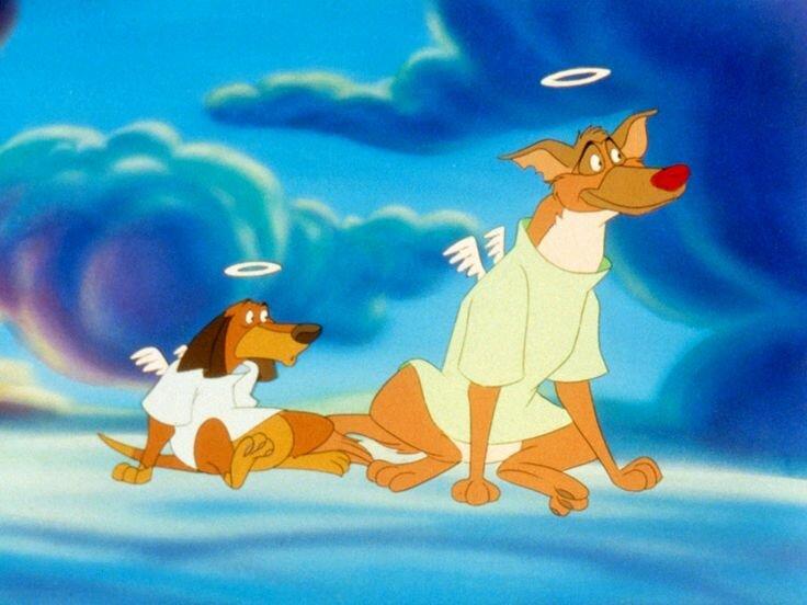 Мультфильма все собаки попадают в рай картинки