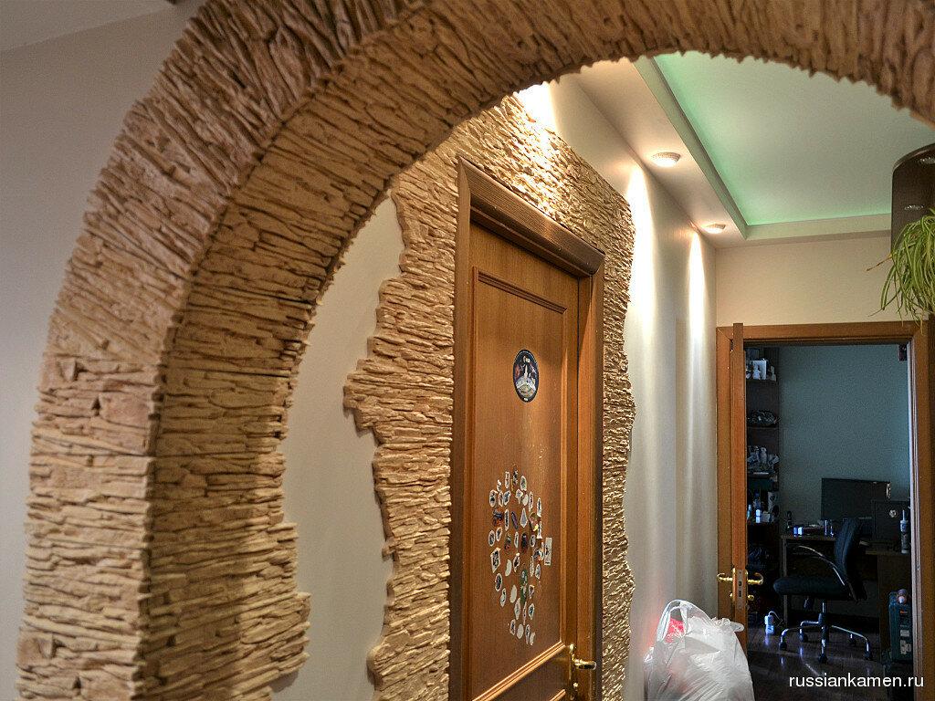 арка обложенная декоративным камнем фото этому