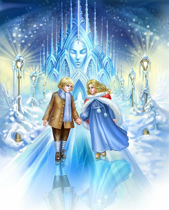 фото снежная королева уносит кая картинка центре старой