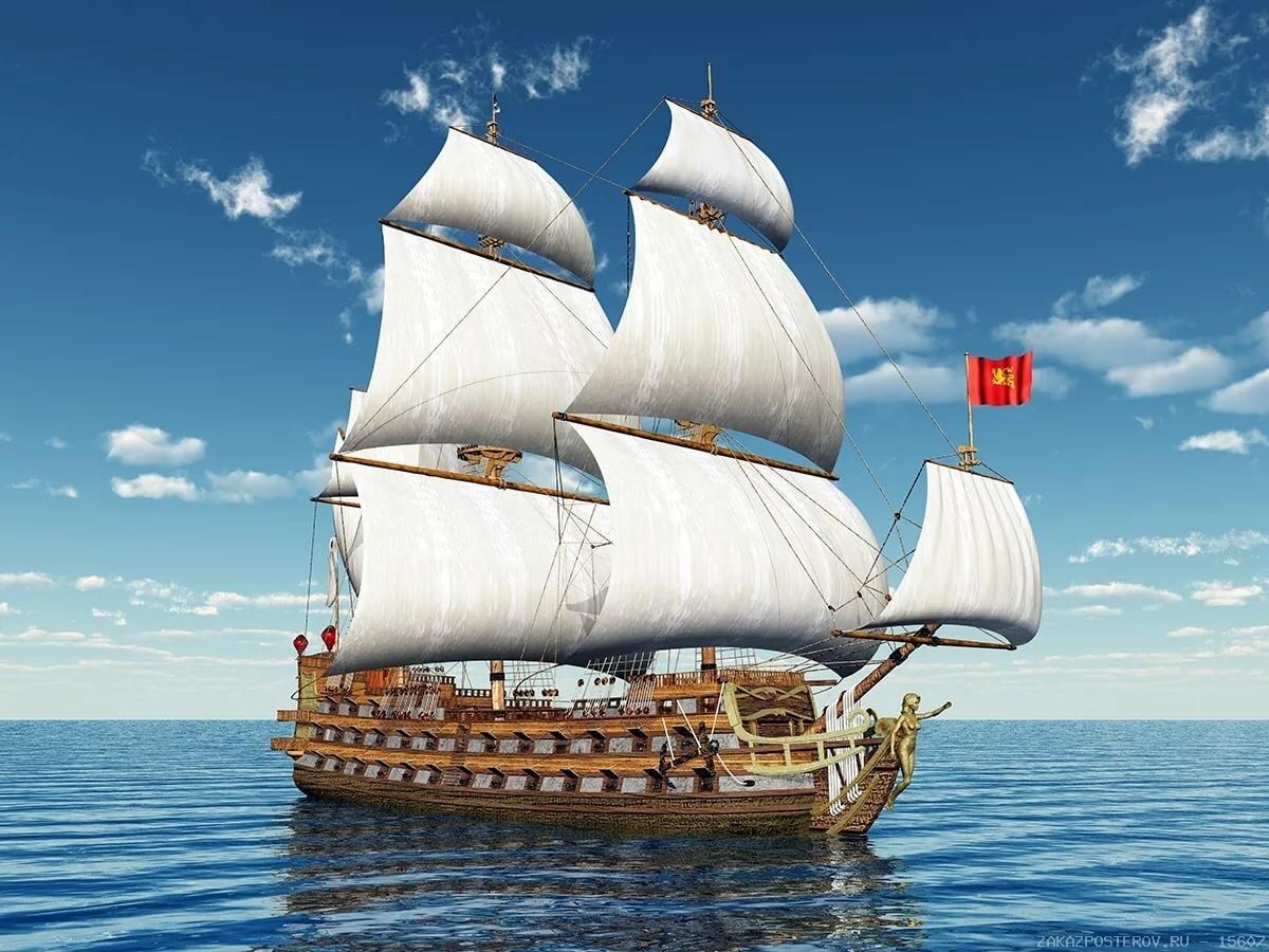 Картинка кораблик парусник