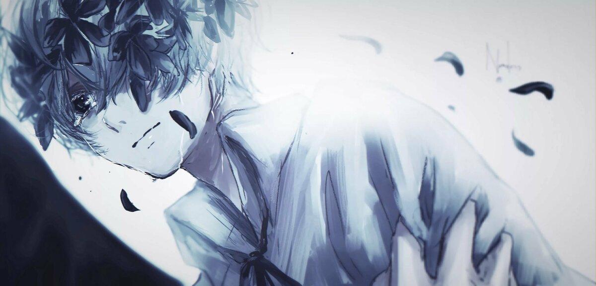Плачущий парень картинки аниме