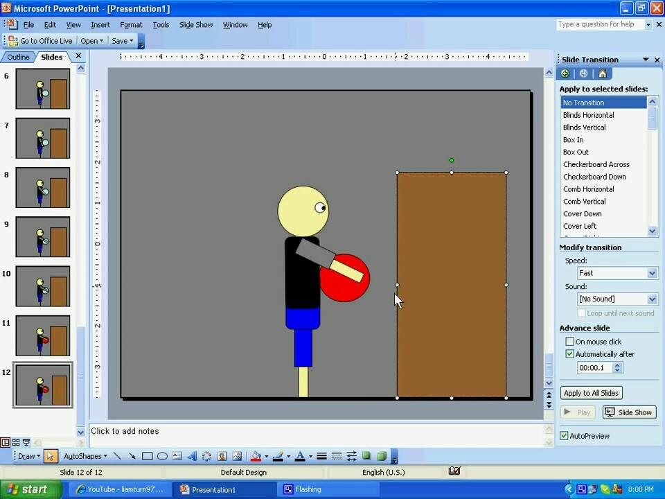 Анимация картинки в повер поинт