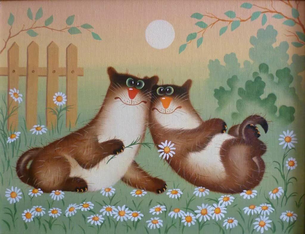 Открытки забавные кошки