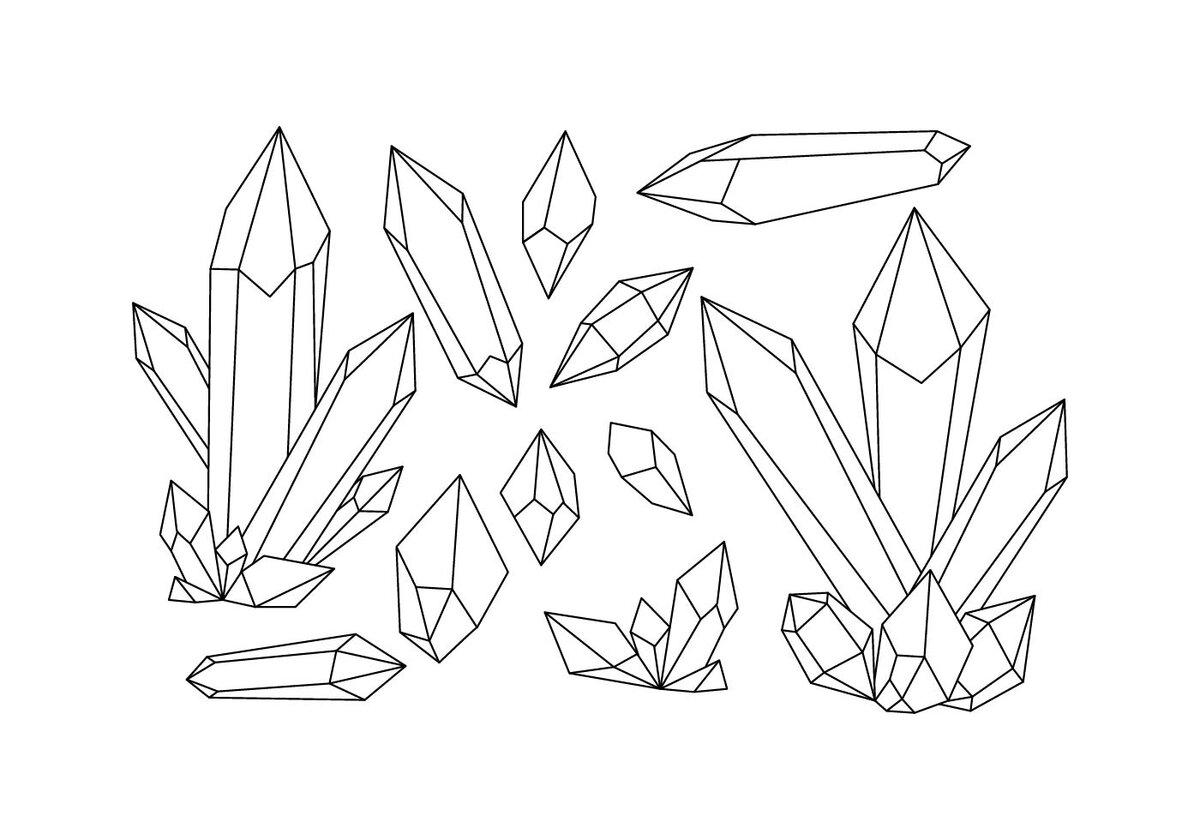вам картинки кристаллов поэтапно плитка конфетти белый