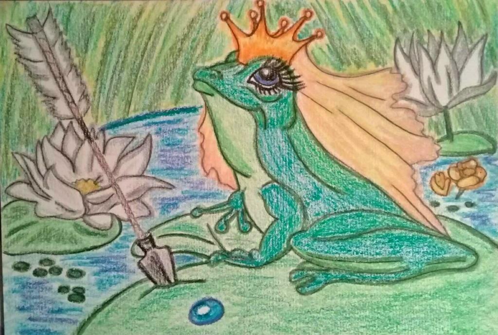 Рисунок Царевна - лягушка