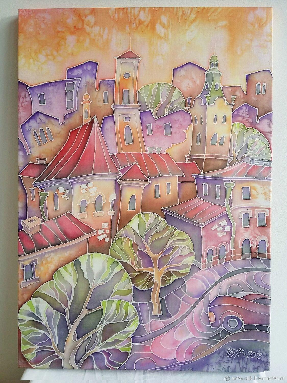 Батик картинки города