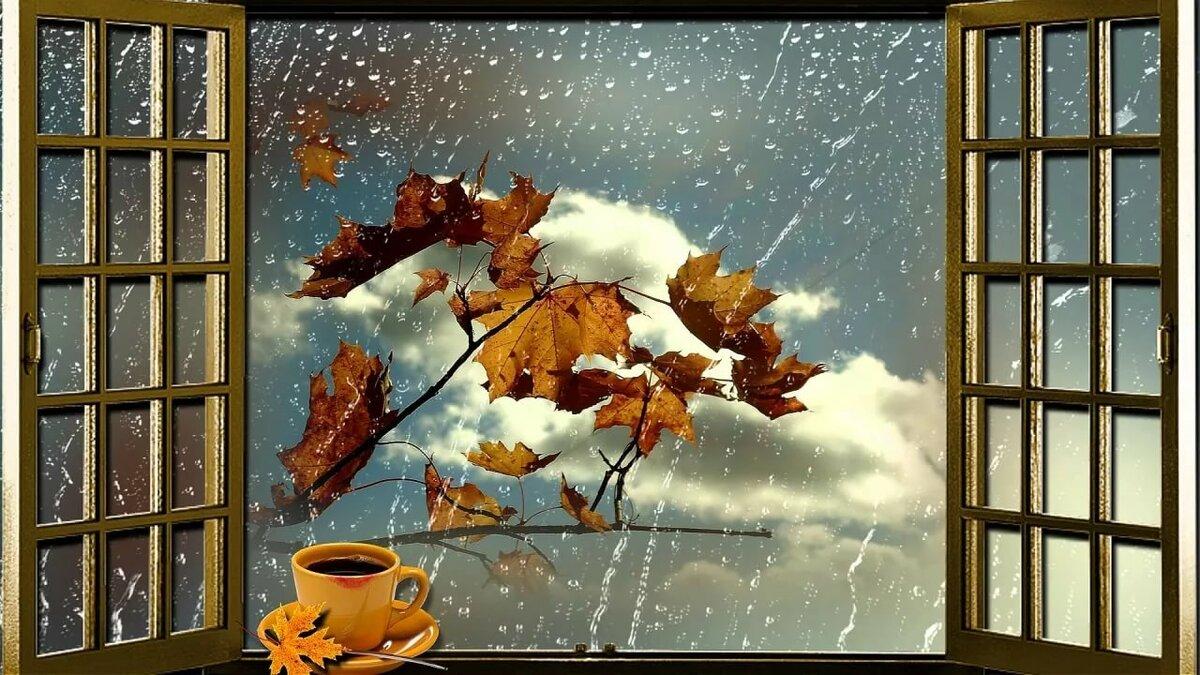 серия открытки дождливое утро осень певица