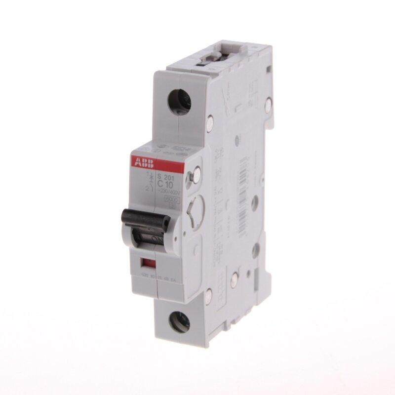1 полюсные автоматический выключатель ABB серии S 201 С 10