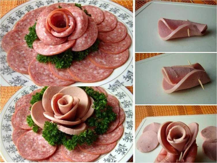 пошаговая схема выкладки нарезки мяса фото загрузка
