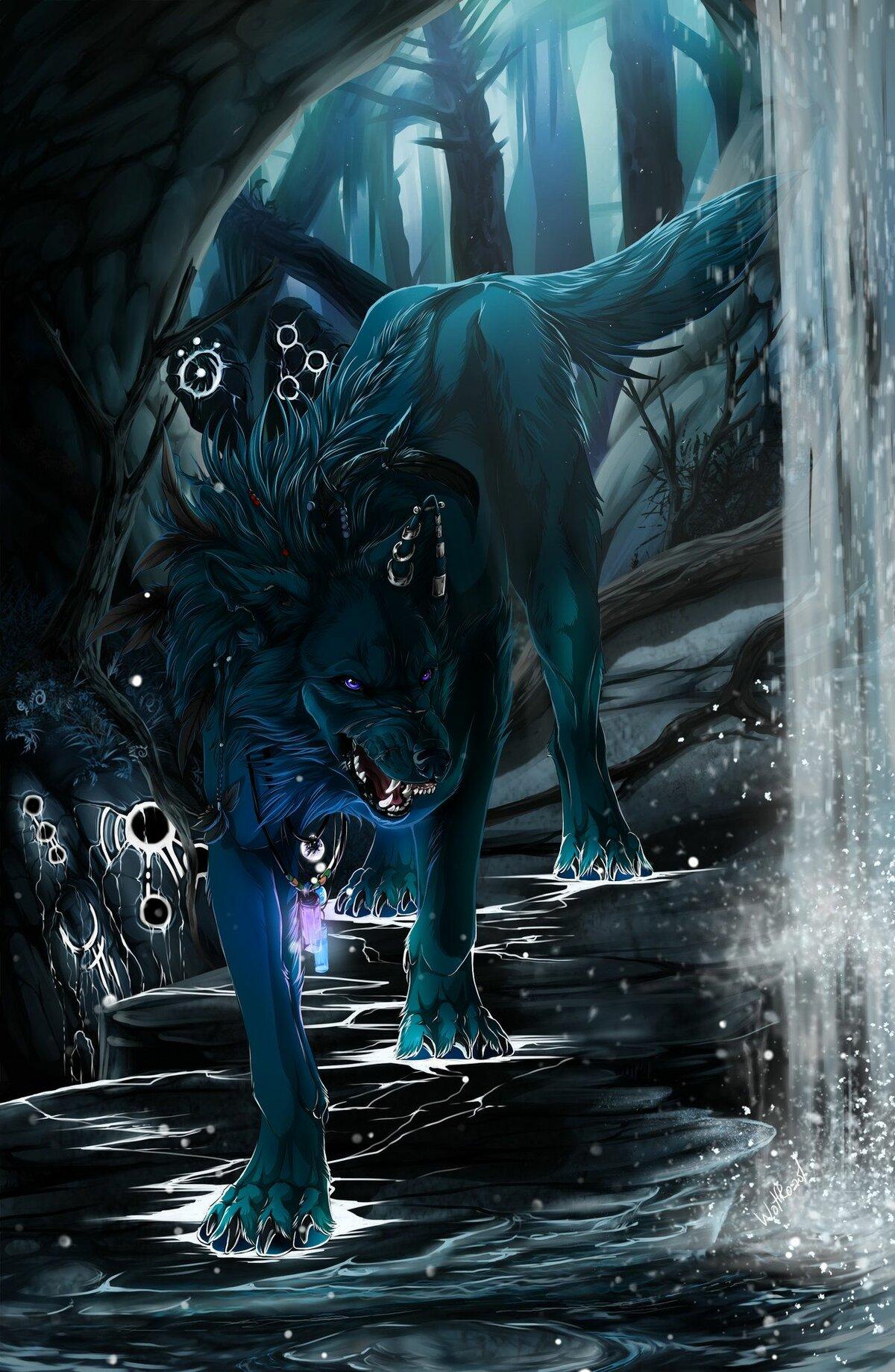 мистические арты волков ним