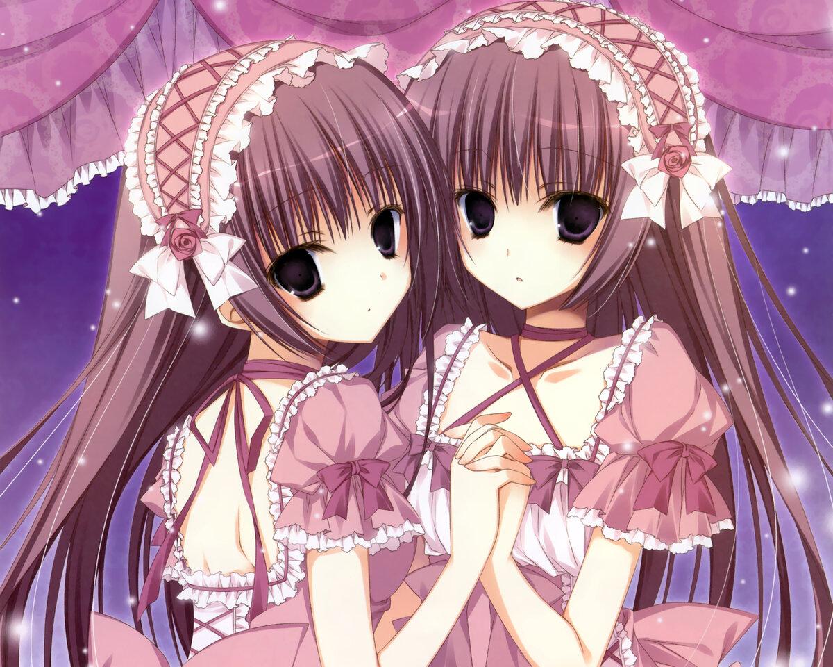 Аниме картинки с близняшками