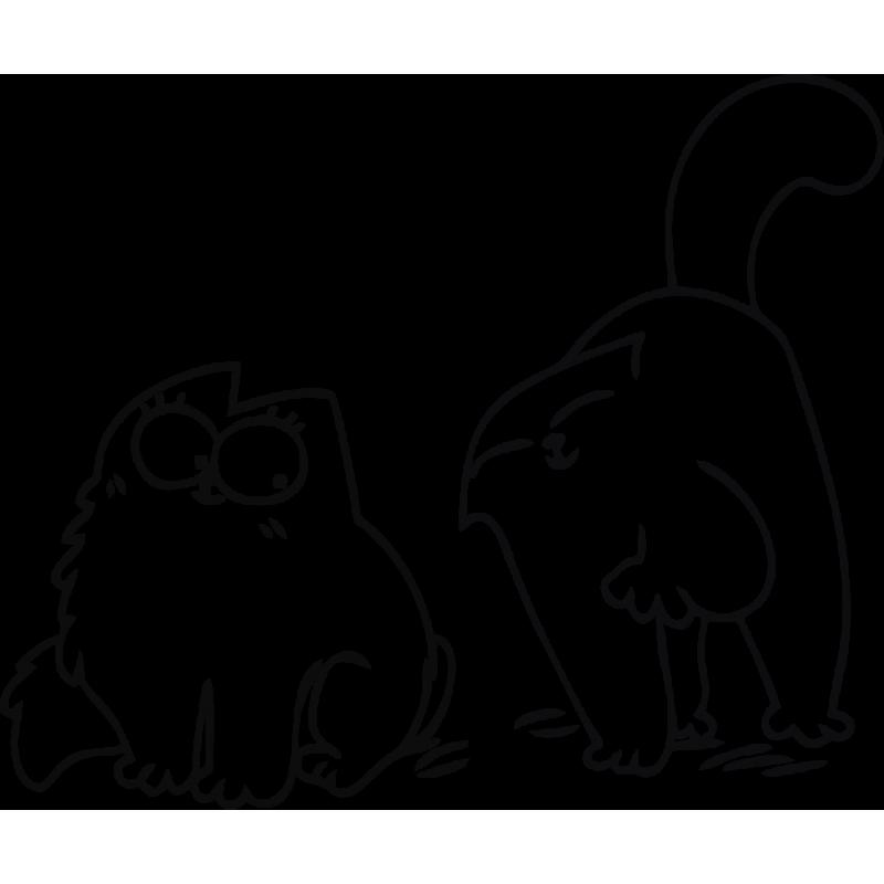 черно-белые картинки для распечатки кот саймон обед
