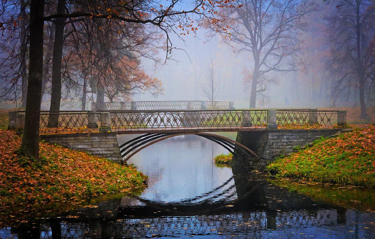 обои на рабочий стол осень мосты ярославской области подводят
