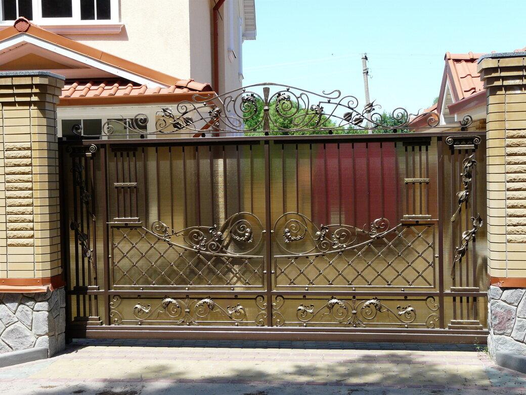 Кован ворота забор картинки