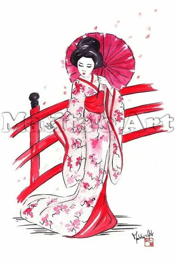 Картинки для срисовки китаянка