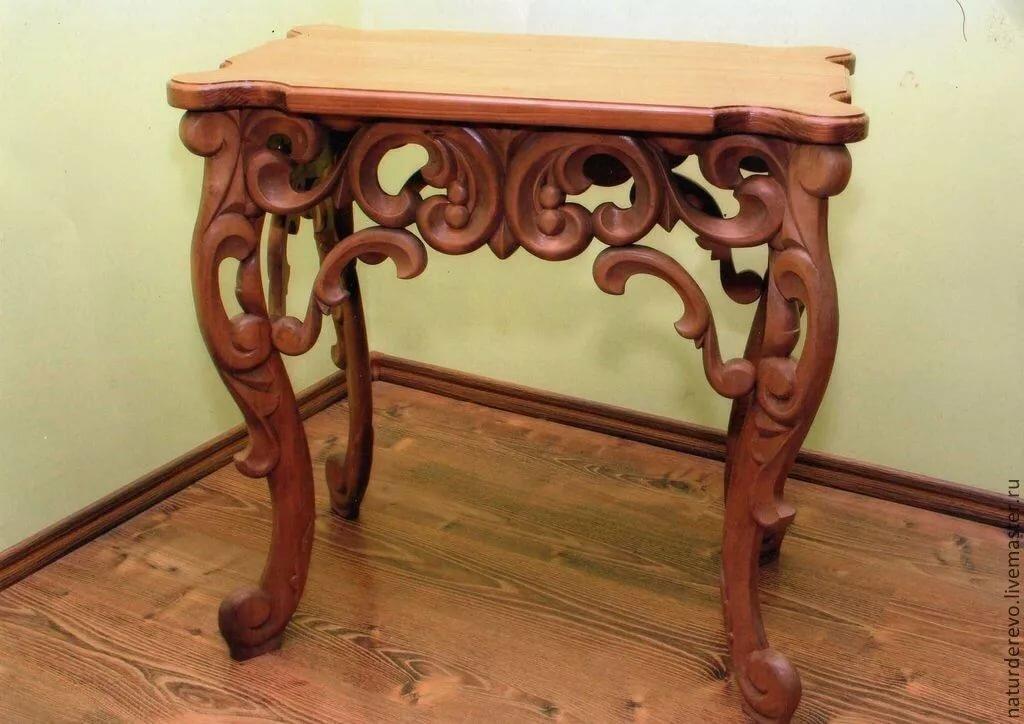 резные столы из дерева фото сказать