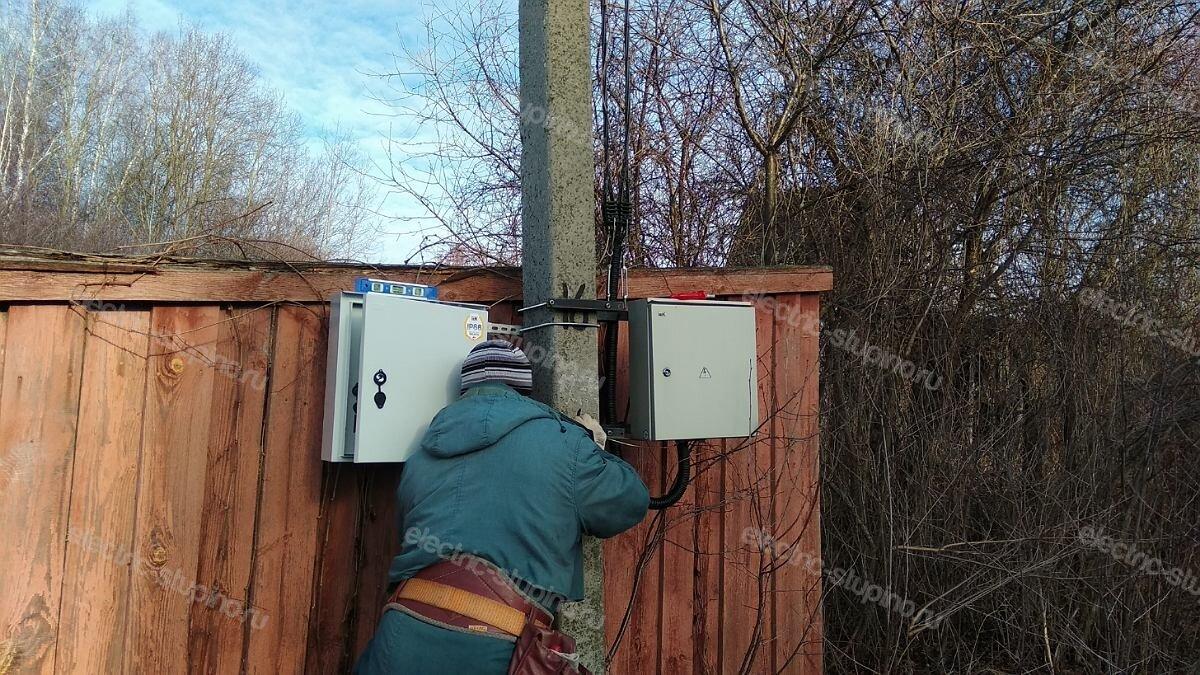 Монтаж электрощита для частного дома в Ступинском районе д Верзилово