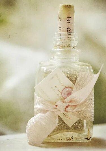 послание в бутылке подарок