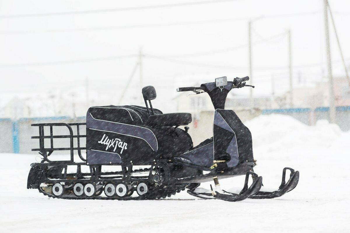 Мотобуксировщик Мухтар-15 с лыжным модулем