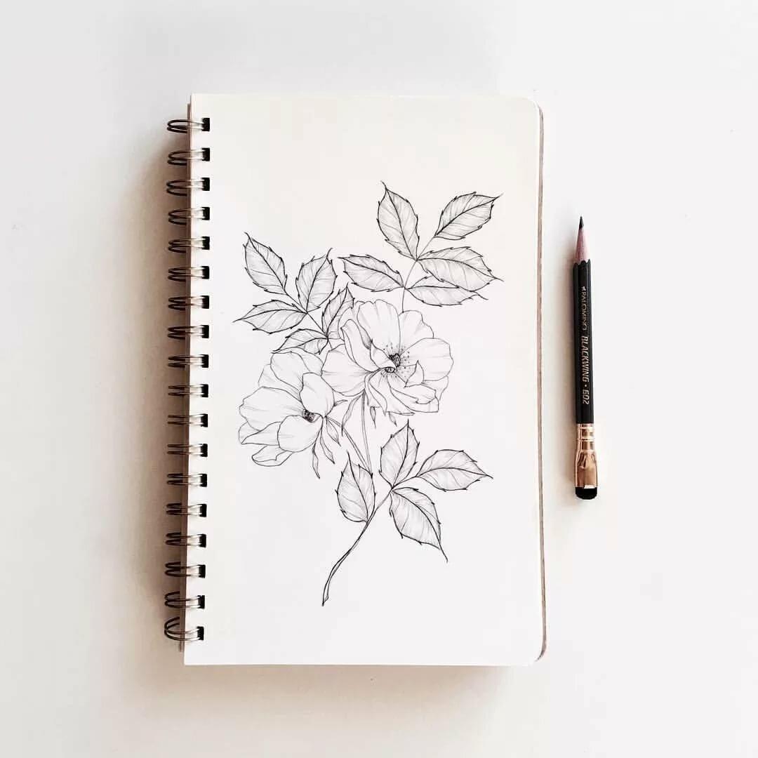 рисунки для скетчбука карандашом сможете найти много