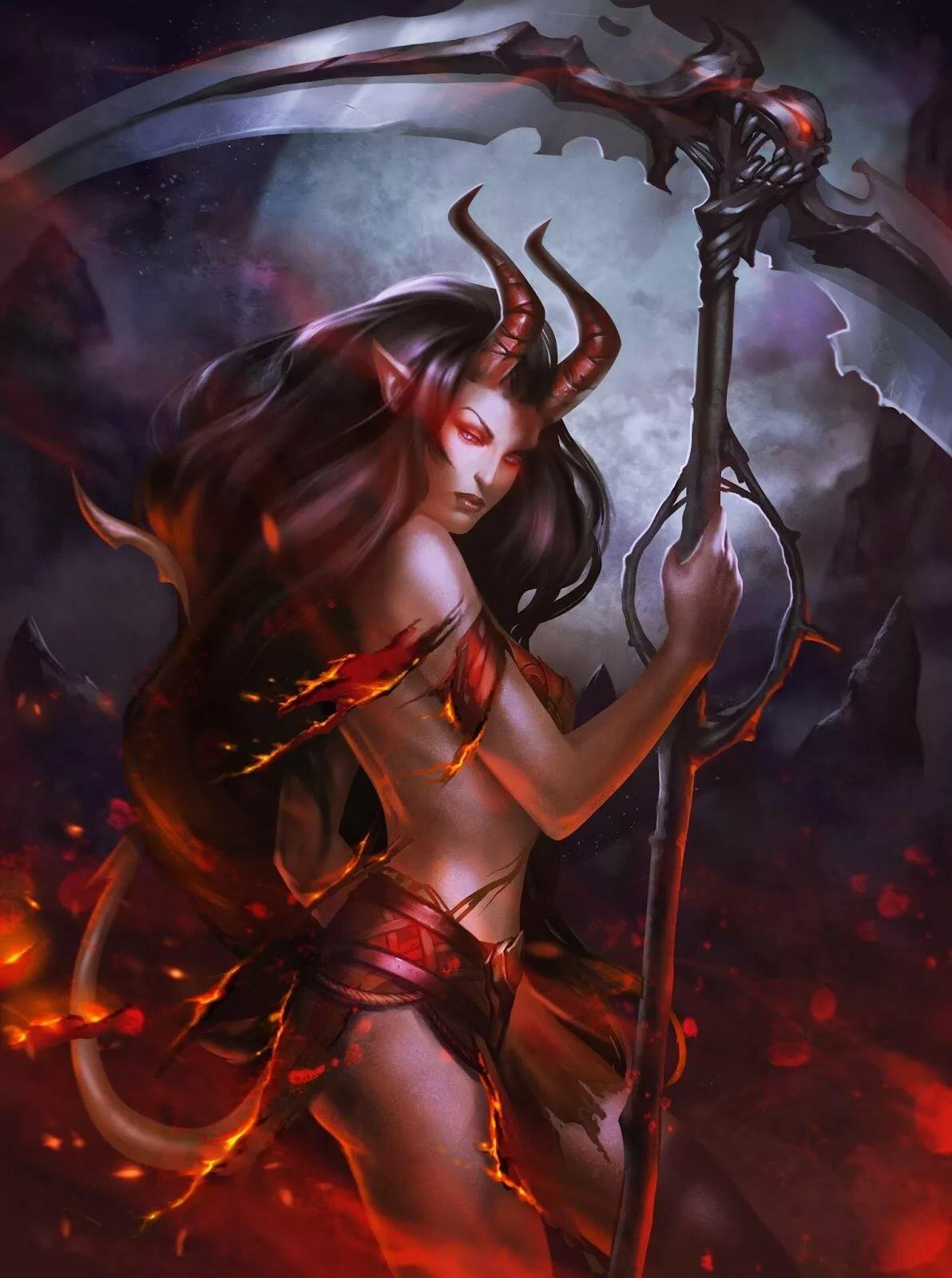 Картинки фэнтези девушки и демоны