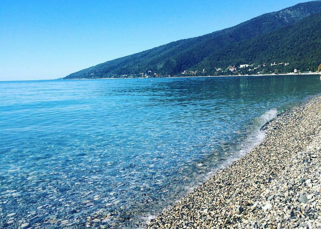абхазия фото пляжей и набережной где найти