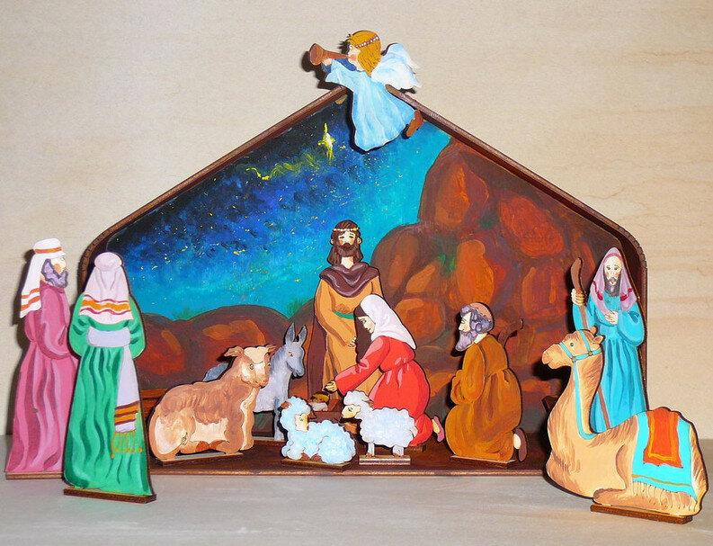 Рождественский вертеп картинки своими руками для детей