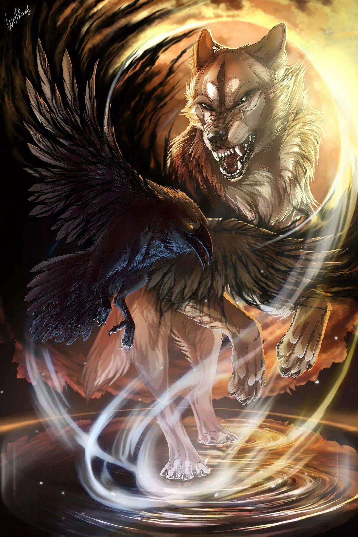Картинки оборотня и ангела