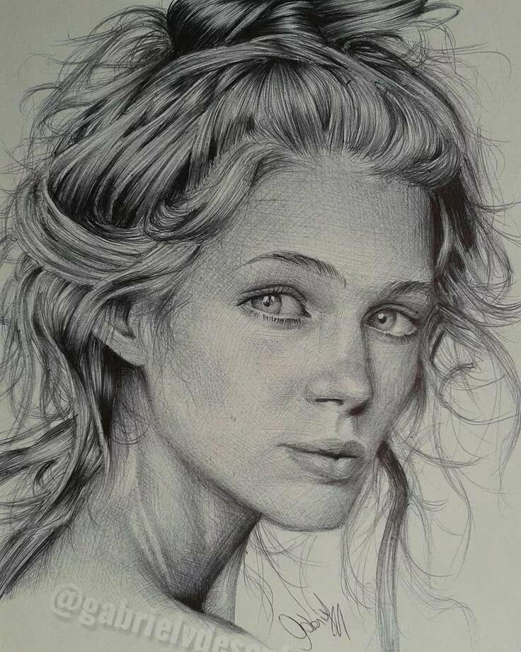 картинки портретов рисунок карандашом вот такой фото