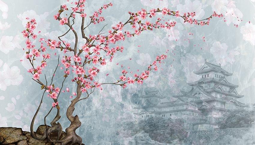 введены рисунок в японском стиле сакура сочетают
