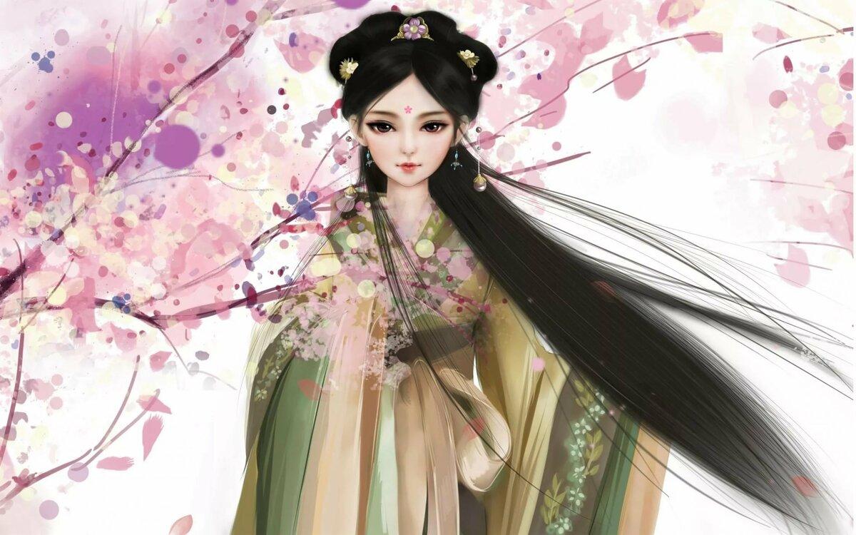 Картинки китайских девушек в кимоно