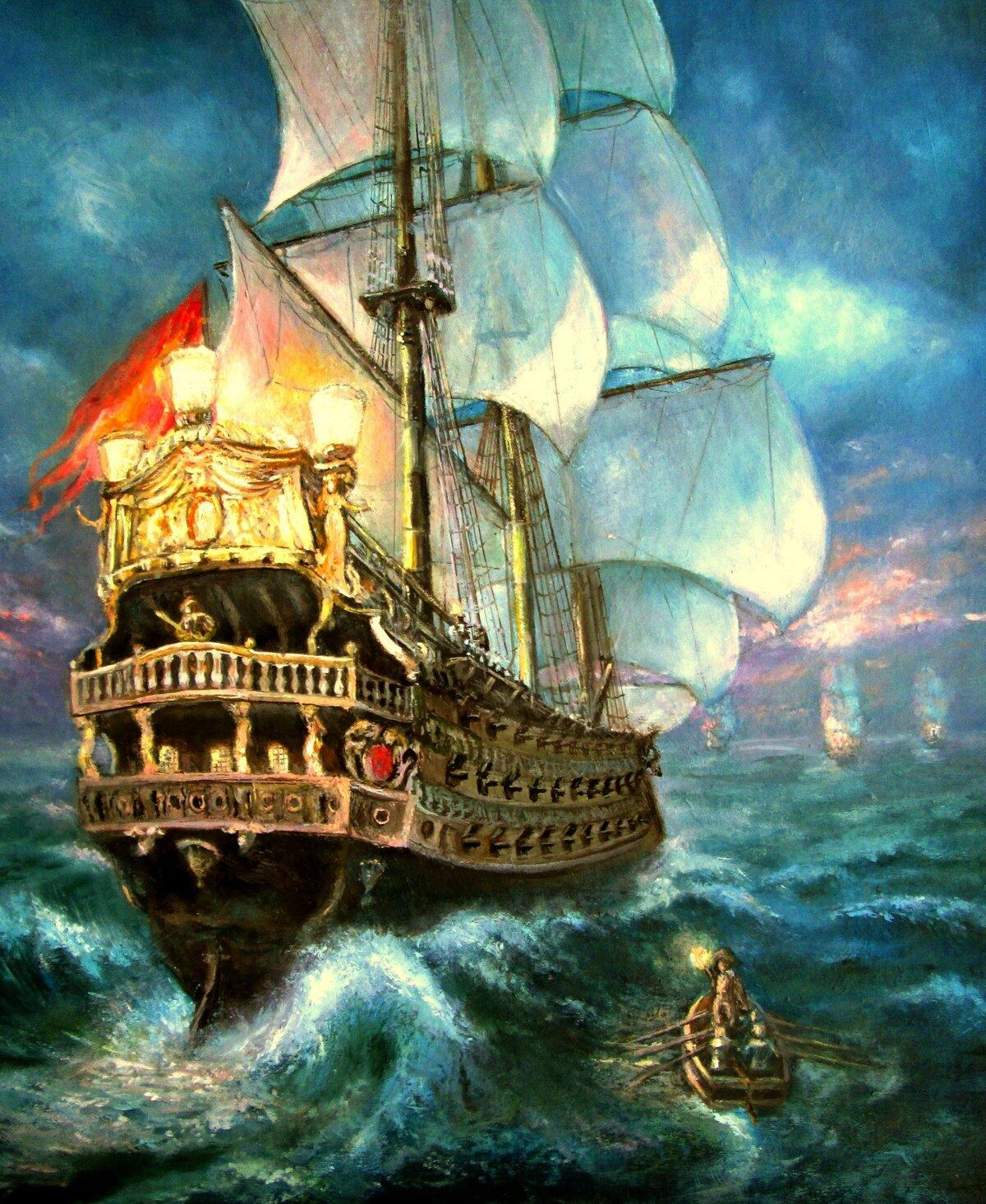 Картинка корабля для декупажа
