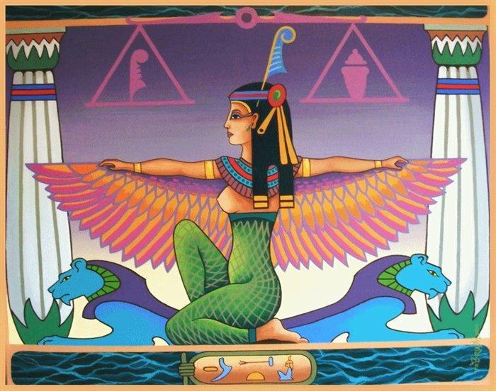 Богиня правды маат рисунок