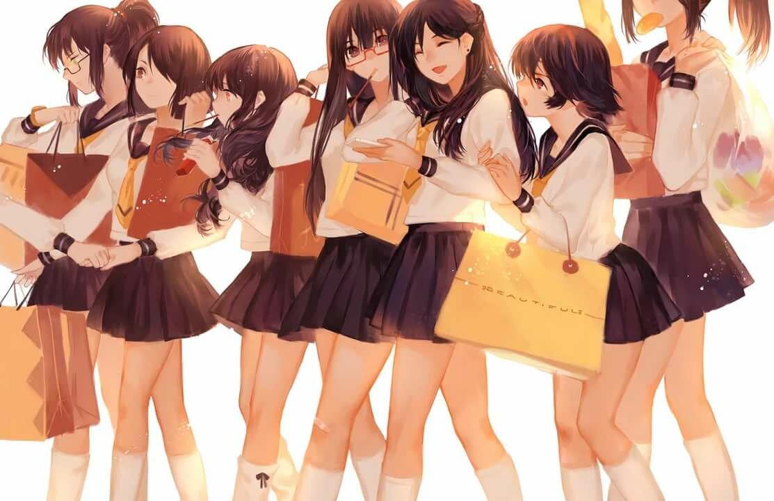 Японская школьница аниме картинки