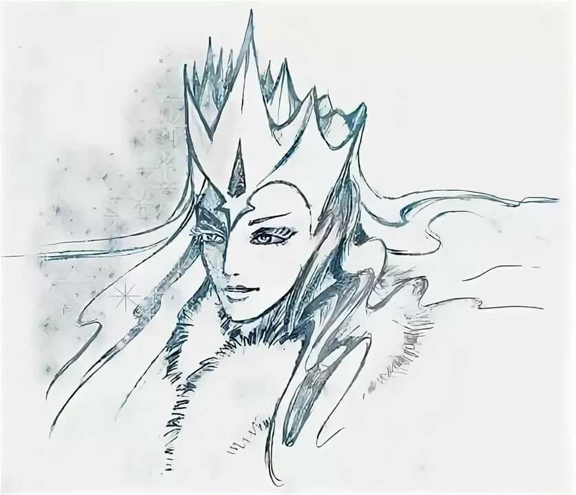 Королева картинка карандашом