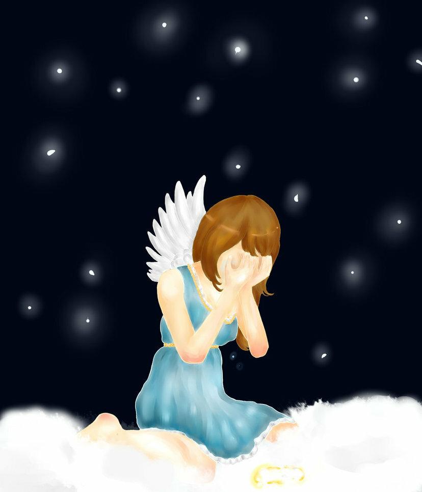 картинка обиженный ангелочек под елкой