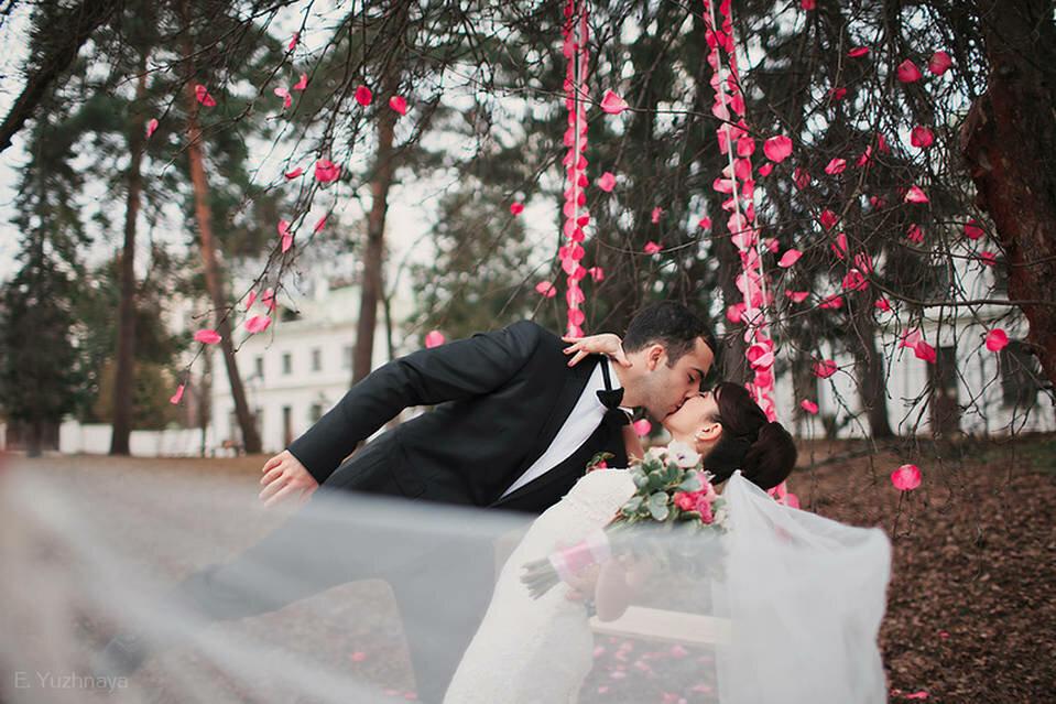 фото с лепестками роз на улице признанию